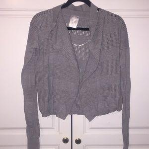 Ivivva gray cardigan sweater